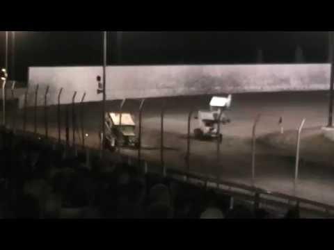 Economy Sprint Car Crash @ Marysville Raceway 5/28/16