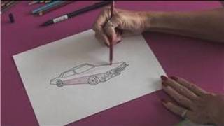 Drawing With Colored Pencils : How to Draw Lowrider Cars