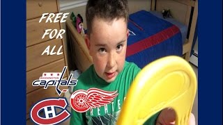 KNEE HOCKEY FREE FOR ALL - CAPS / HABS / RED WINGS .. WITH SCRAP AND RKO BY RYAN