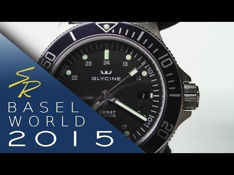 Glycine Combat Sub Deepblue Baselworld 2015