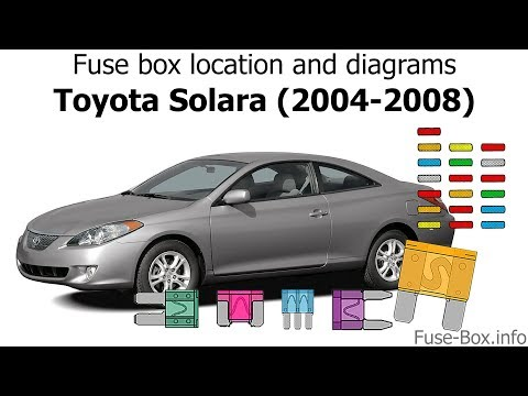 Fuse Box Location And Diagrams Toyota Solara 2004 2008