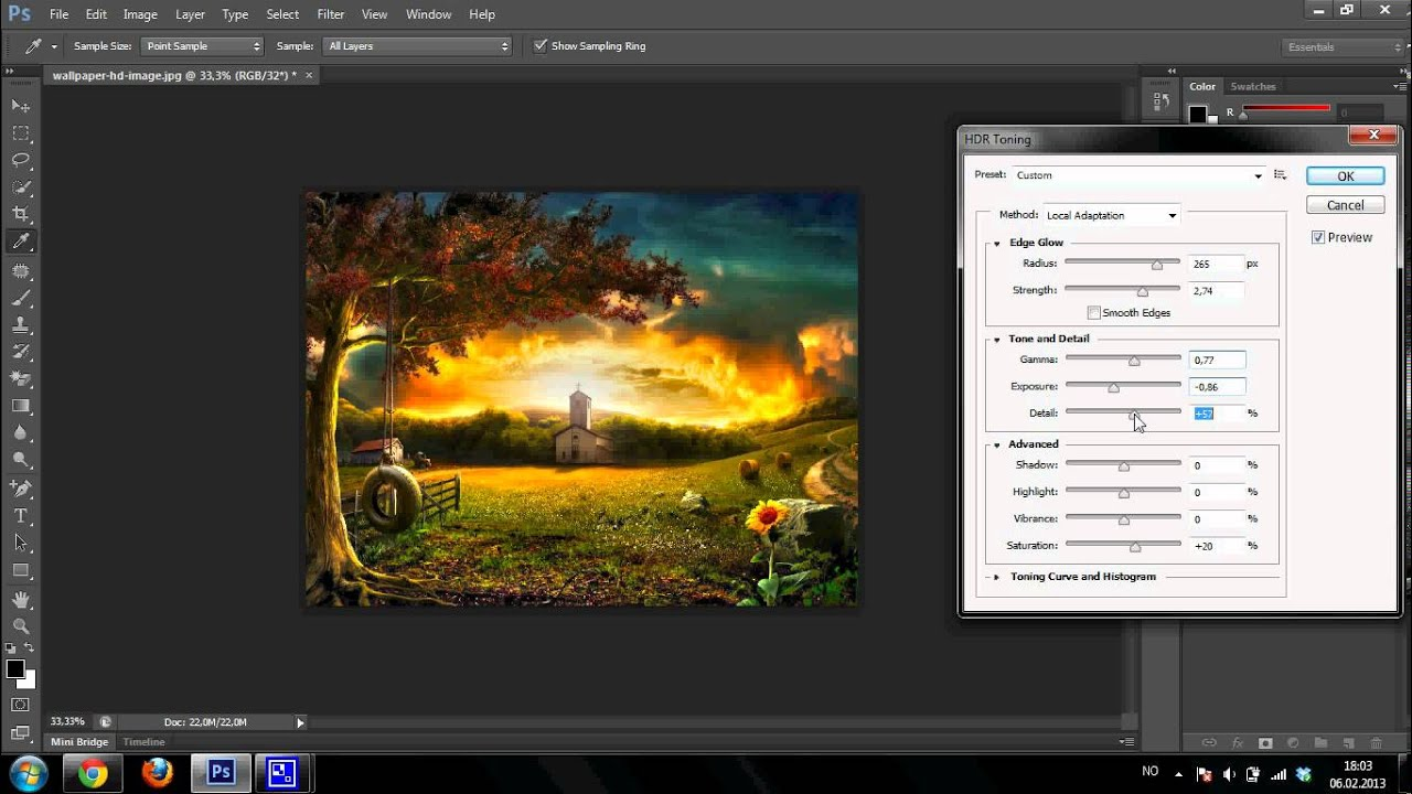 Hdr toning in photoshop cs6 tutorial youtube hdr toning in photoshop cs6 tutorial baditri Image collections
