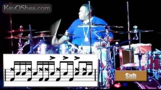 Eric Moore Moscow Drum Groove | Drum Lesson