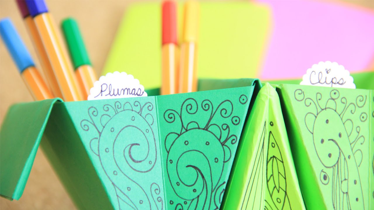 Accordion box f cil organizador de escritorio origami - Organizador escritorio ...