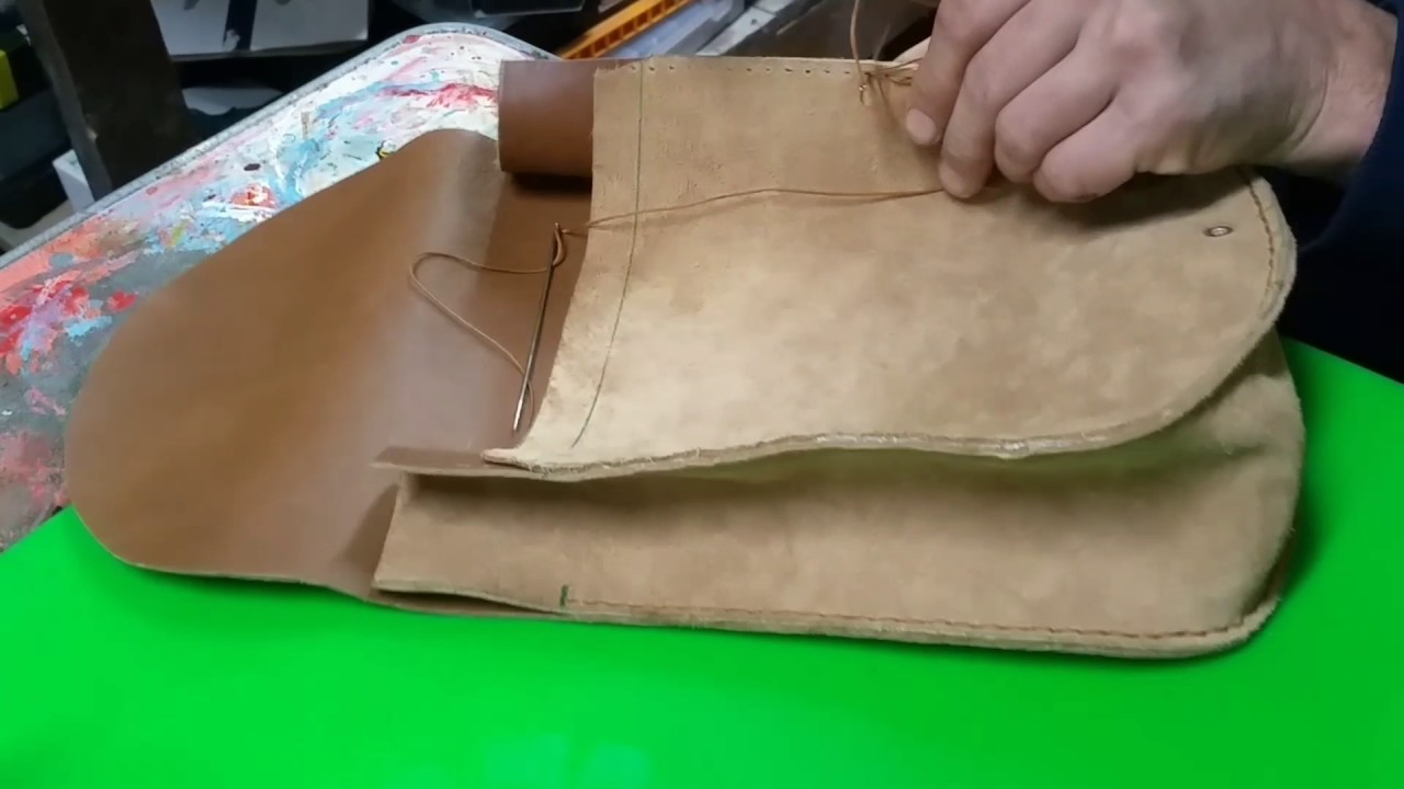 Famoso Cucitura a mano di una borsa di pelle - YouTube SE95