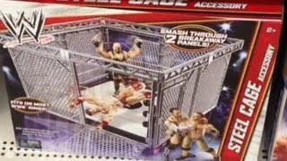 WWE ACTION INSIDER: Steel Cage Accessory for Mattel Spring Ring and how to make Elite Scale Ring toy