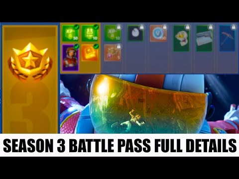 Season 3 Batle Pass Full Details New Tiers New Skins New Unlocks