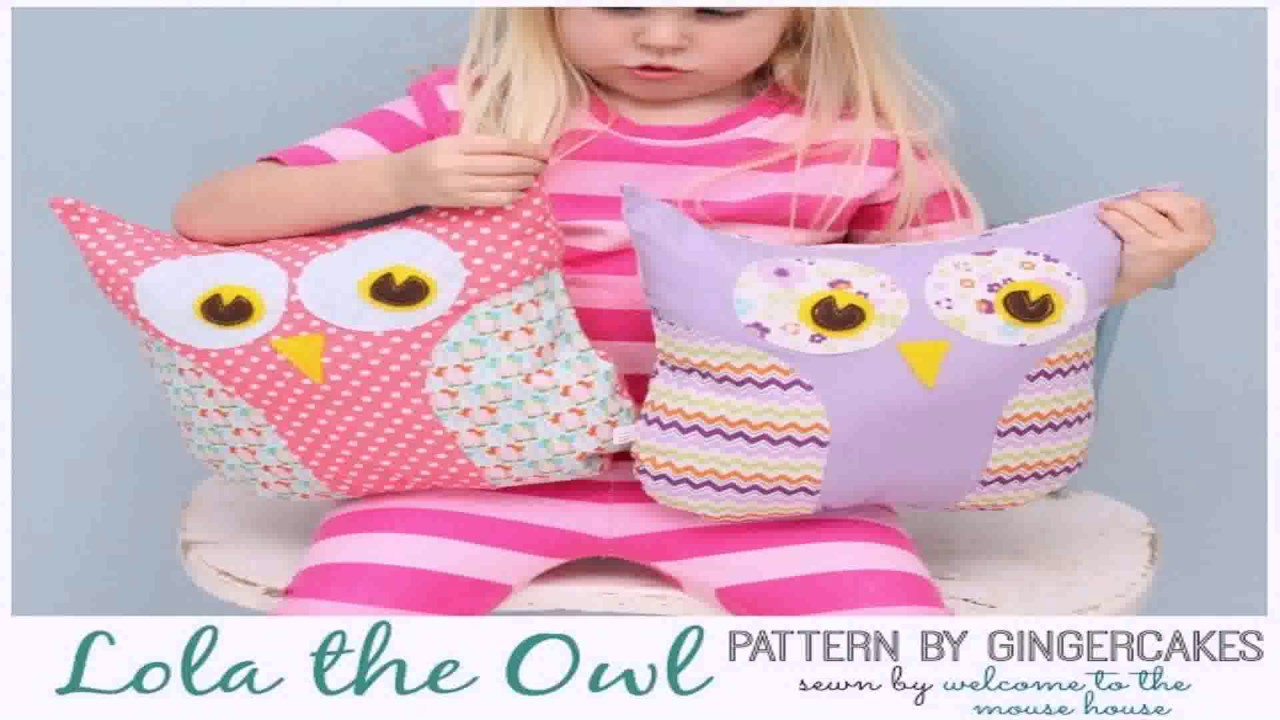 Owl Pillow Pattern Diy Room Decor Easy Owl Pillow Sew No Sew Youtube
