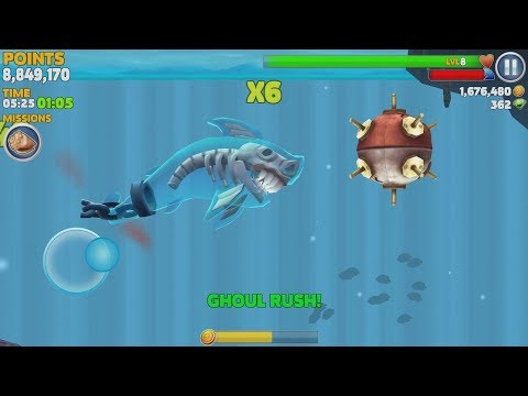 Hungry Shark Evolution Ghost Shark Android Gameplay #7