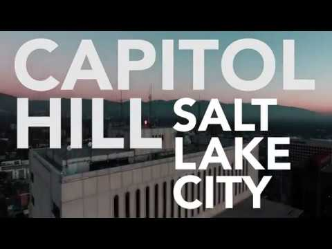 Capitol Hill, SLC, DJI Phantom 4 Drone Flight
