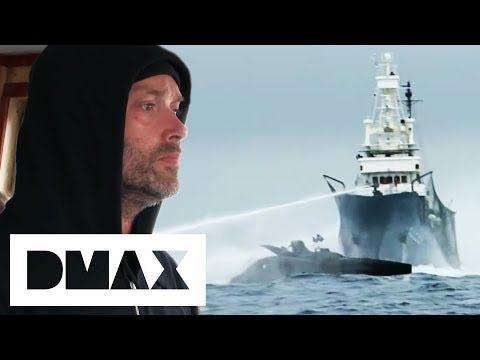 Whaling Ship Deliberately Crashes Into Sea Shepherds Boat | Whale Wars