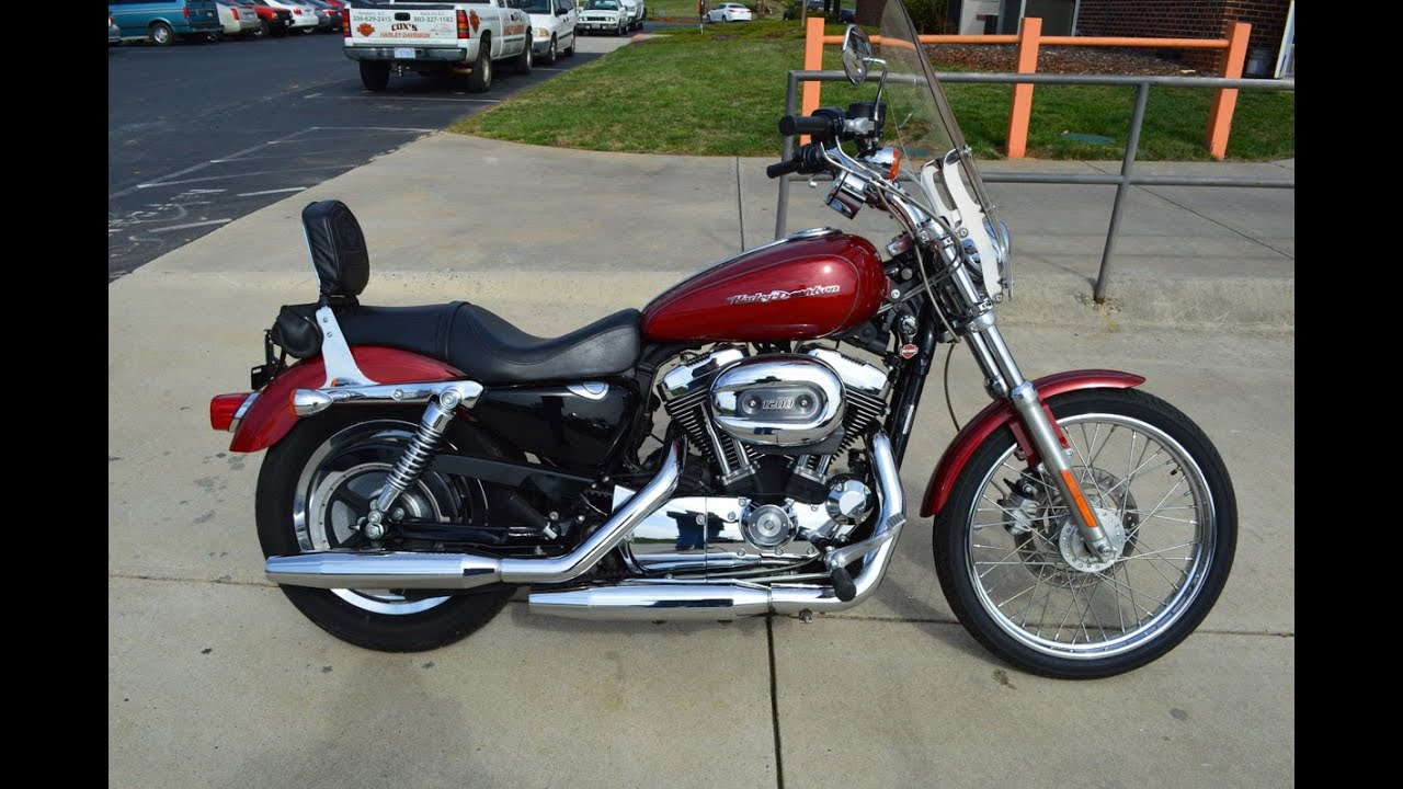 sold 2007 harley davidson xl1200c sportster 1200 custom 5490 youtube. Black Bedroom Furniture Sets. Home Design Ideas