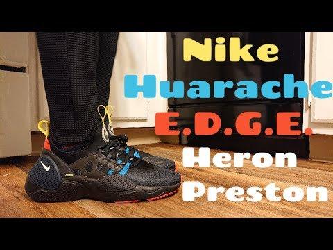 Nike Huarache E.D.G.E. HP (HERON PRESTON) Review \u0026 ON FEET