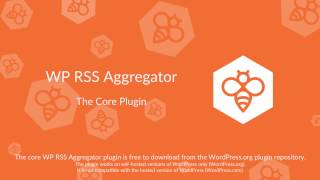 WP RSS Aggregator : Core Plugin Overview thumbnail