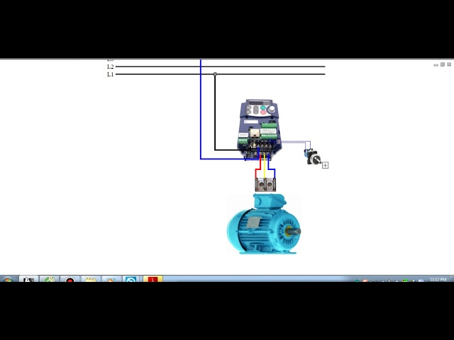 INVERTER FUJI MINI _ HOW TO WIRE - BASIC PARAMETER SETTING ( FORWARD DIRECTION )