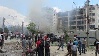 Midyat Emniyet Müdürlüğü'ne bombalı araçla saldırı