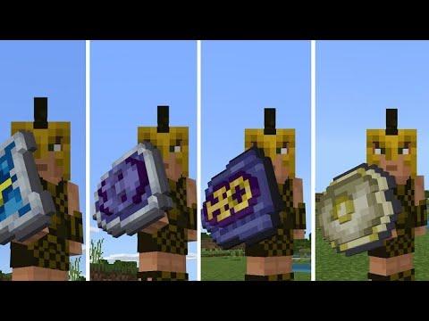 КАК КАСТОМИЗИРОВАТЬ ЩИТ В Minecraft Pe 1.13.0.13 ПОЛНЫЙ ОБЗОР