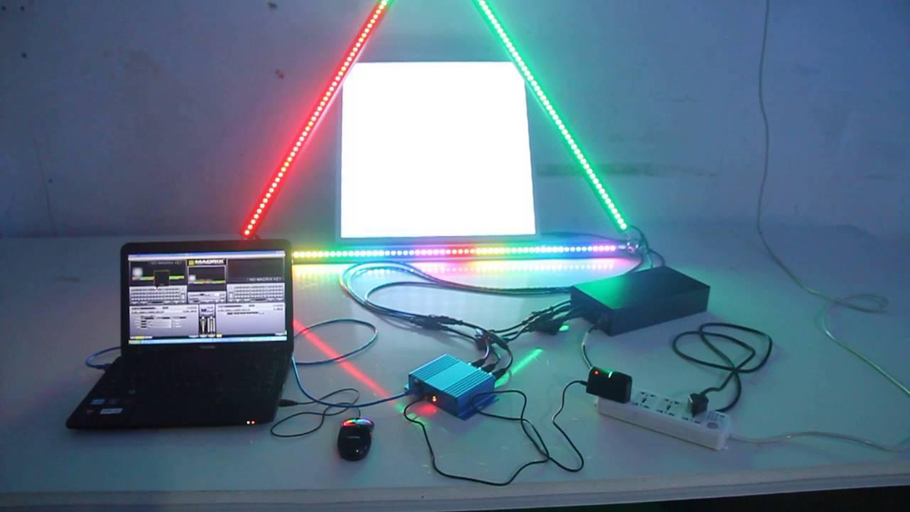 LED DMX Artnet Controller+600600LED Panel+DMX Scenografix Bar