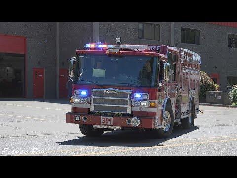 Engine 301 Responding Clackamas Fire District #1 (2017 Pierce Dash CF PUC) [4K]