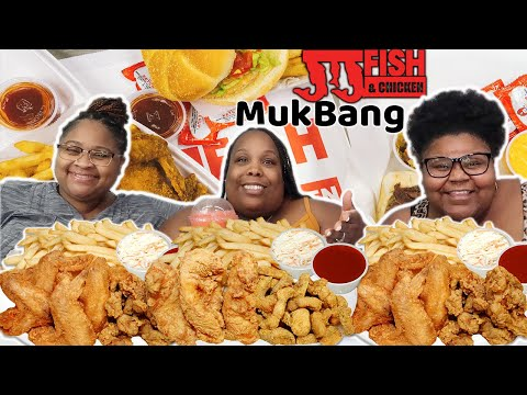 JJ's Fish & Chicken Mukbang With Prissy P & Kizzie + Q&A With Auntie