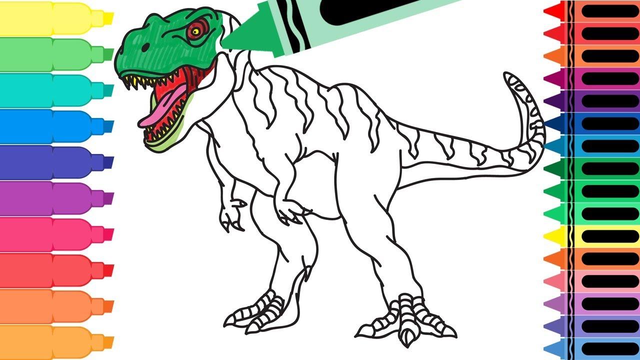 How to Draw a Tyrannosaurus Rex - Dinosaur Wild Animals ...