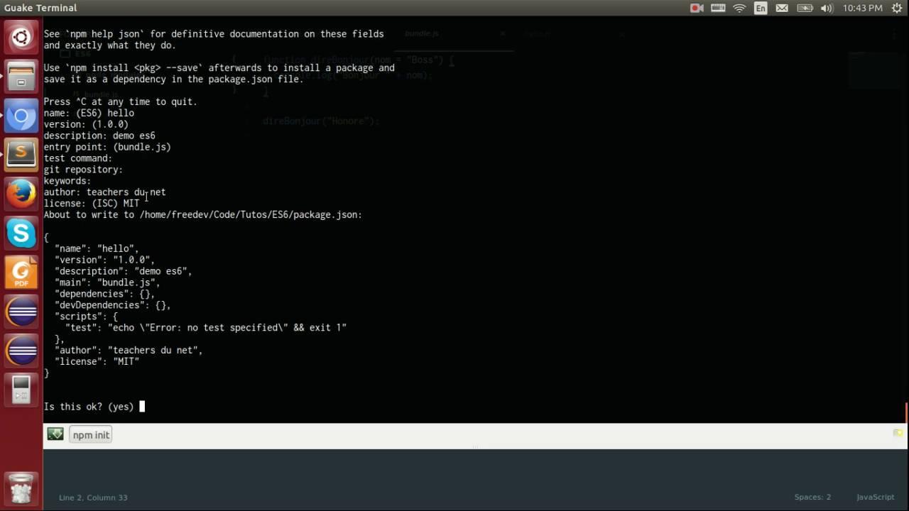 ECMAScript 6 - 5 - Compilation avec babel-cli et babel-preset-es2015