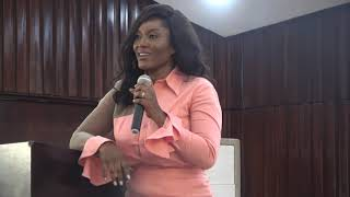 Tracy Sarkcess speaks to KNUST Ladies on how they can handle their world
