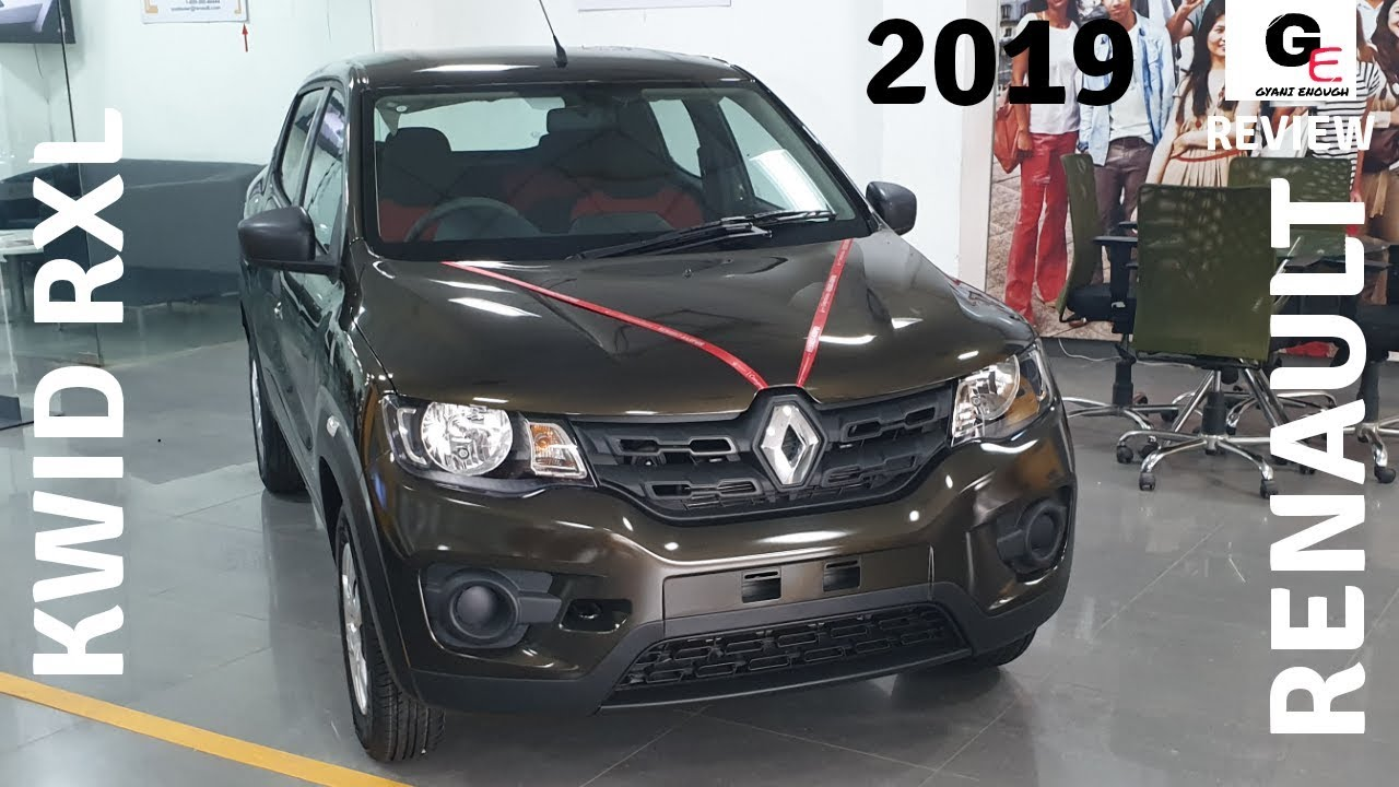 2019 Renault Kwid Rxl With Airbags Abs Walkaround Video
