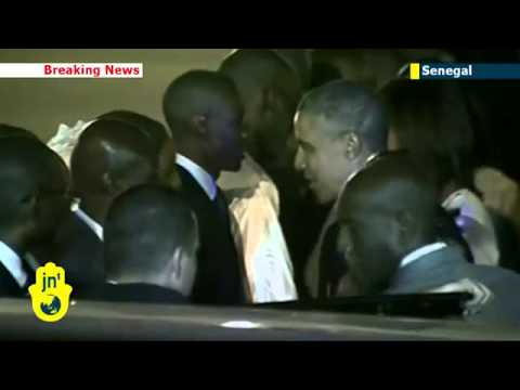 Barack Obama arrives in Senegal for start of Africa tour