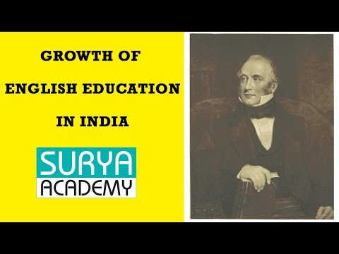 Modern India | Growth of English Education In India | Macaulay Minute