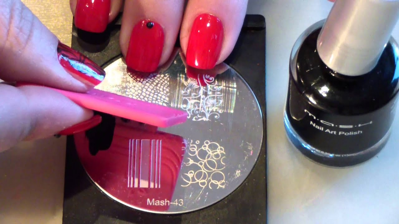 Supertruco para estampar en uñas/ Stamping nails cute trick - YouTube