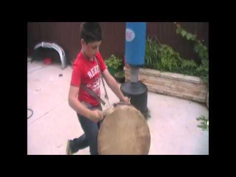 Little Lebo Boy Drumming