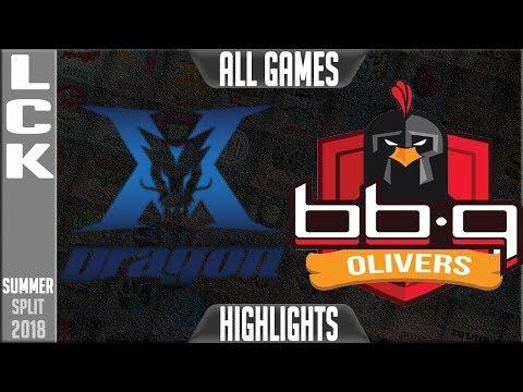 KZ vs BBQ Highlights ALL GAMES   LCK Summer 2018 Week 2 Day 6   King-Zone DragonX vs BBQ Olivers