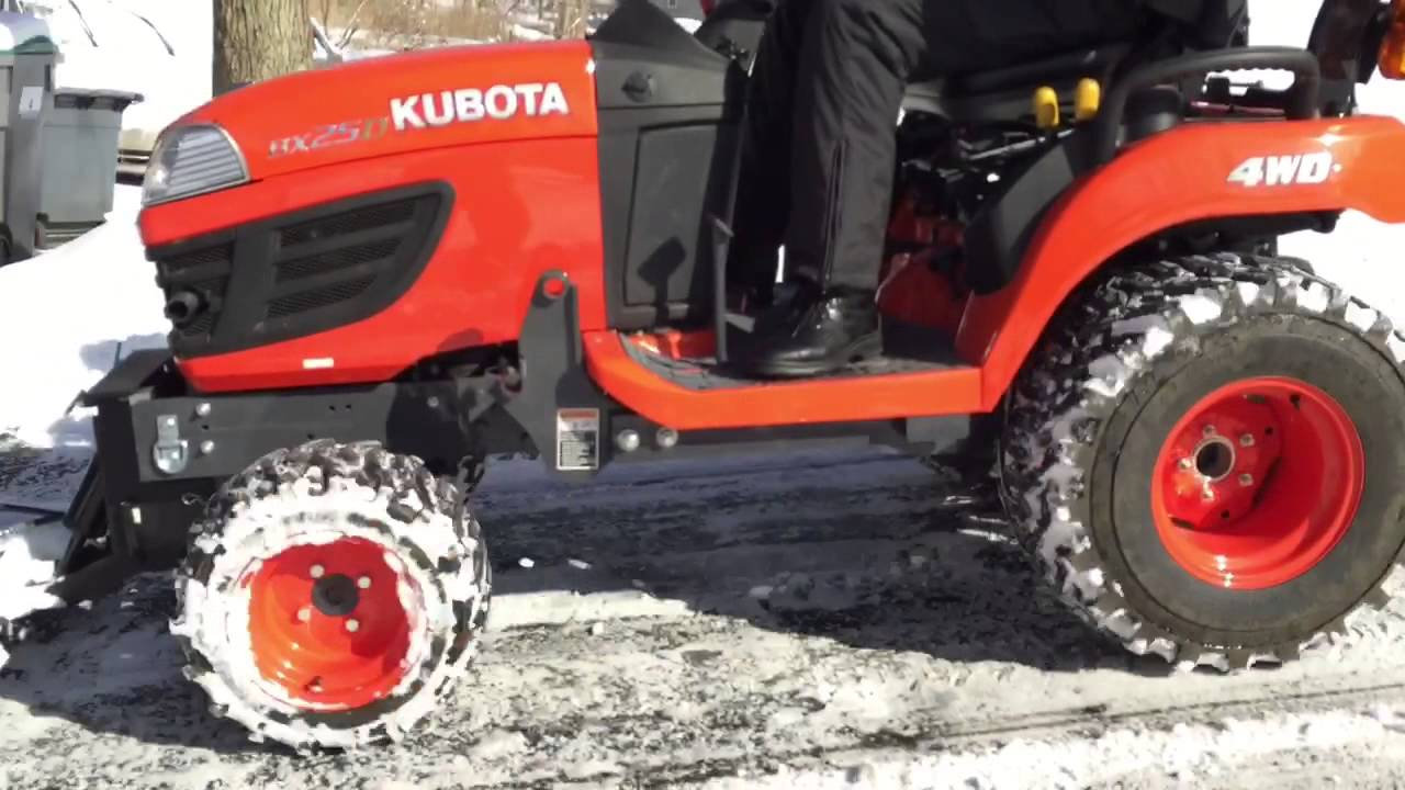 Kubota Bx Tractor Cover : Kubota bx plowing snow with a johnny products plow doovi