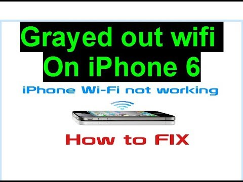 6d8eb2c008a iPhone 6 grayed out wifi solutions not solved