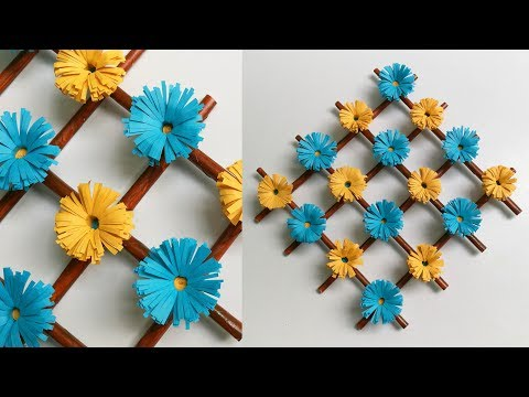 Paper Flower Wall Hanging - DIY Hanging flower || Wall decoration ideas