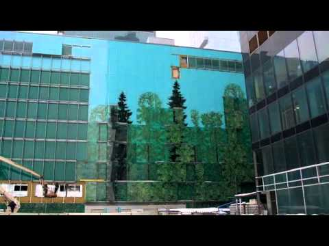 AFI Mall | Moscow, Russia | Photorealistic Image of Russian Forest Printed on Glass | Dip-Tech