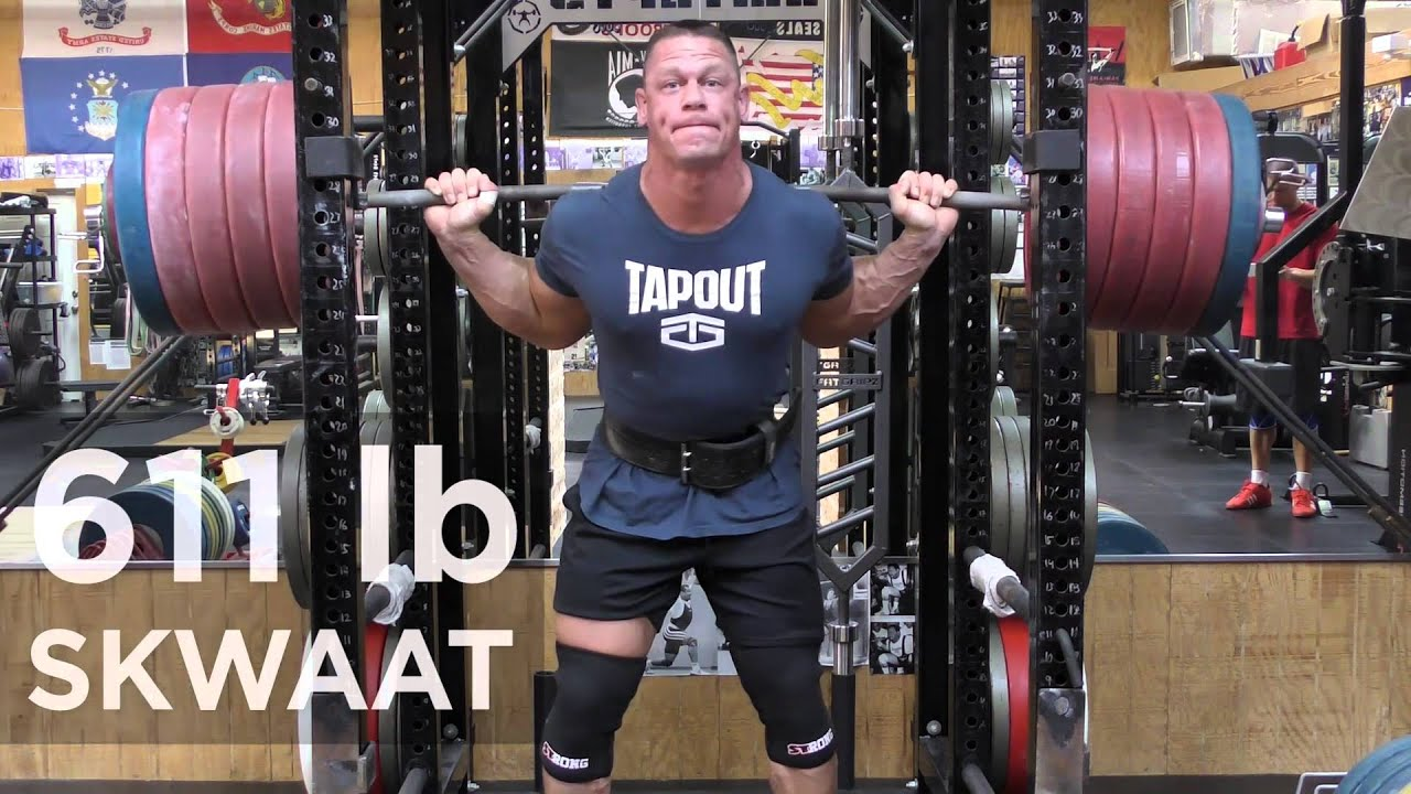 John cena squats 611 pounds youtube - John cena gym image ...