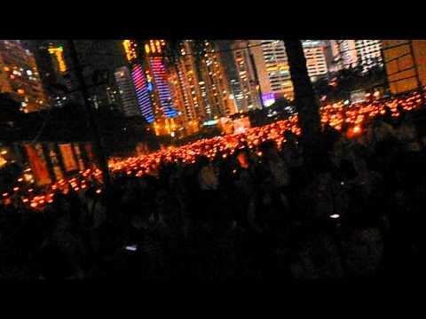 Hong Kong Video 1--Tiananmen Square Massacre Memorial (6-4-12)