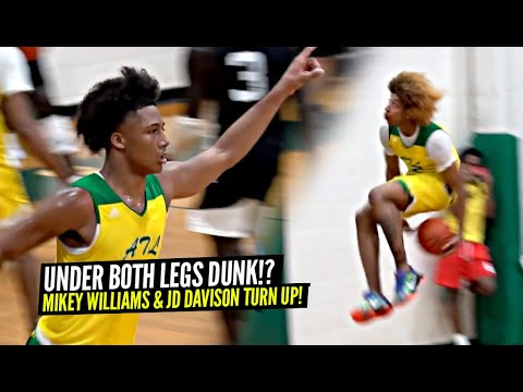 Mikey Williams & JD Davison Team Up!! Tried To Pull Off RIDICULOUS UNDER BOTH LEGS DUNK!!wwww