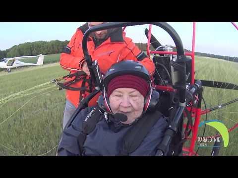 Lot z 84 letnią panią Marią nad Lubinem