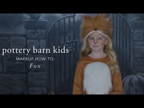 Easy Halloween Makeup Tutorial - Fox Tutu Costume for Pottery Barn Kids