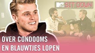 KAJ VAN DER VOORT over CONDOOMS, ZOENEN en het afwijzen van ADRIANA LIMA?! | MTV Sit Down