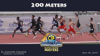 2019 TF - CIF-ss Masters - 200 Meters (Boys)