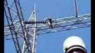 lineman working at a 230,000 volt substation (part 2)