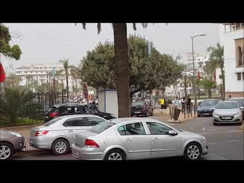 Casablanca (Morocco) central area - street view