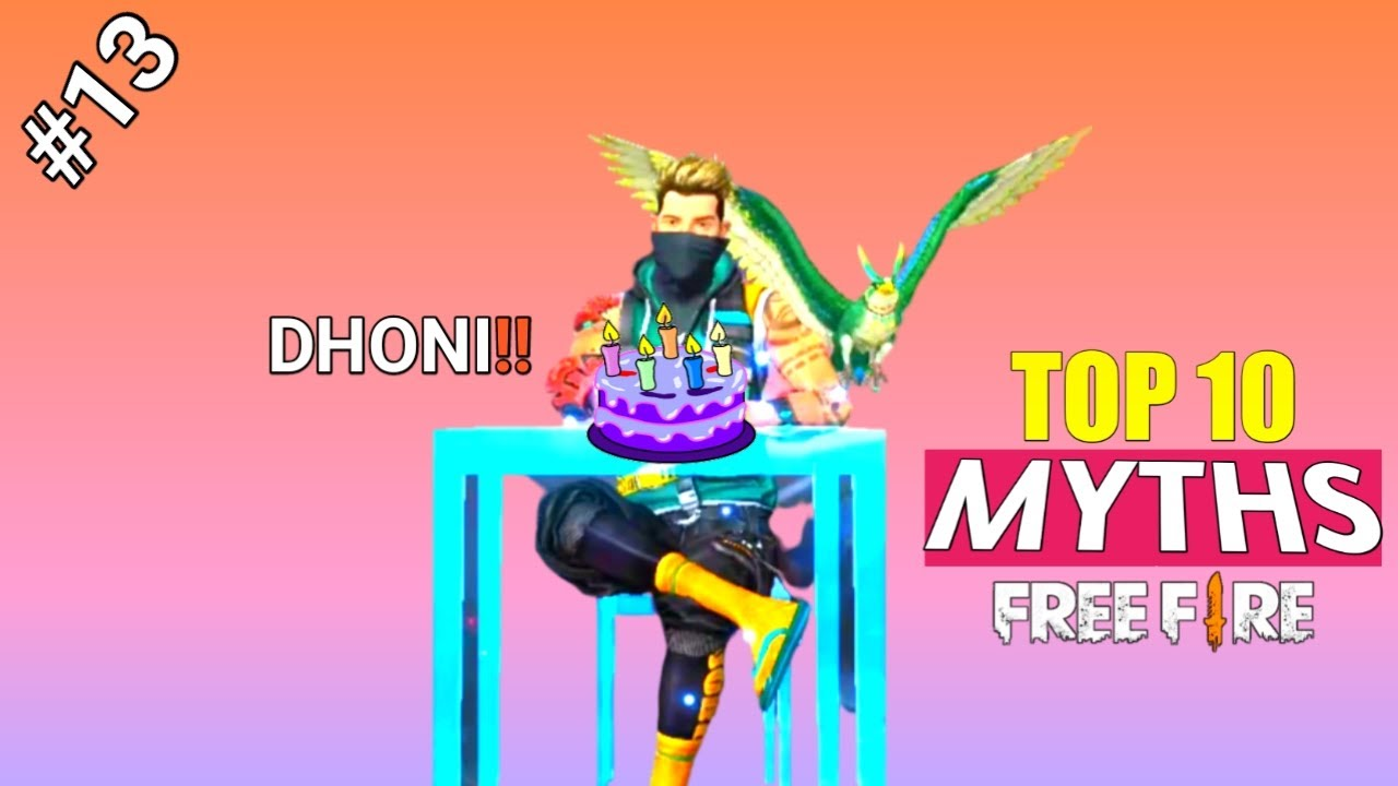 Dhoni Birthday || Top 10 Mythbusters in Free Fire Battleground || Garena Free Fire Myths #13