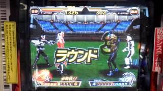 仮面ライダーウィザードフレイムスタイルとオーズサゴーゾコンボで戦い...