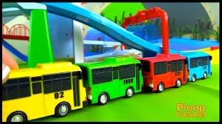 BUS SCHOOL! - TAYO Toys & Tayo Bus Transporter Demo CRASH COMPILATION Tayo Bus videos for kids 타요