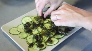 Ensalada de algas y pepino